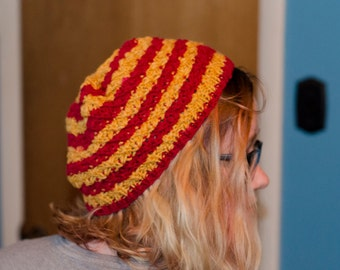 Hermoine's Goblet of Fire Knit Hat (Shown in Gryffindor Colors)