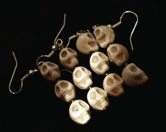 halloween in july, skull earrings, skull jewelry, halloween earrings, halloween jewelry, skulls, halloween,