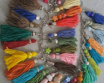 TASSELS for necklaces, bracelet or simply the Aufpepen of handbags and more