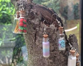 Mini Bottle Earrings