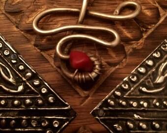 Boho snake pendant