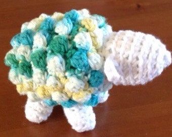 Crocheted Lamb, Small Stuffed Animal, Baby Toy