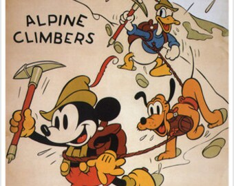 Walt Disney Mickey Mouse Alpine climbers MOVIE POSTER 1936 24X36 cartoon