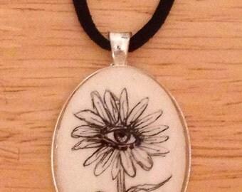 Eyeball Flower Necklace