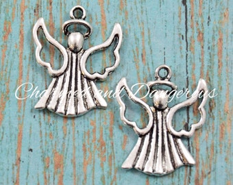 6 pewter Angel charms (CM88)