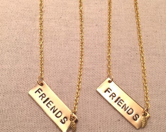 "Brass ""Friends"" Bar necklace"