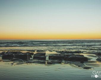 Pastel Sky - Pacific Ocean Sunset - Fine Art Print - 8x10 11x16, Landscape Photograph