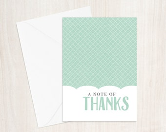 Thank You - Blue Greeting Card