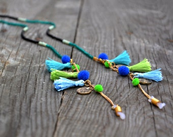 SHADES OF BLUE shadeloops // eyeglass chain, eyeglass holder, cordones de gafas, eyeglass holder, glasses chain, brillenkette, shadeloops