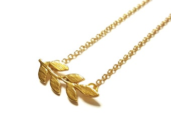 Leafy Branch Necklace