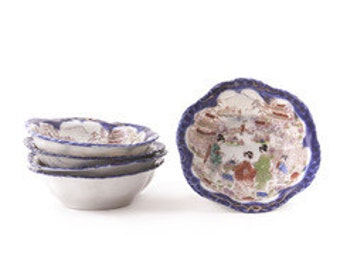 Set of 5 Chinoiserie Bowls