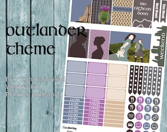 Outlander themed Weekly Planner kit - Printable - for Erin Condren