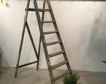 8 Rung Vintage Step Ladder