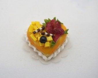 Mini Passion Fruit Cakes Dollhouse Miniatures Food, Pretty, Fine Cake Mango Strawberry