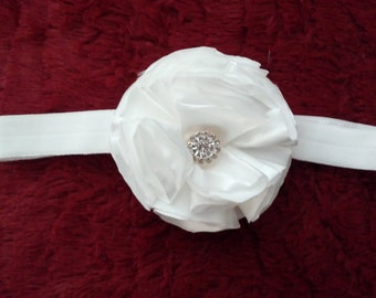 Single Flower Shabby Chic Headband