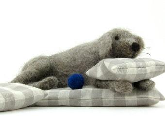 Wool felted pet dog sculpture - a handmade dog gift