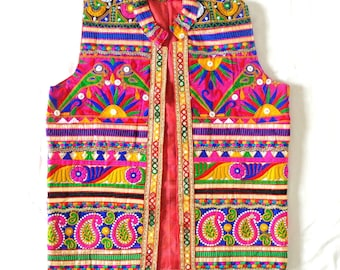 Indian Traditional Festival Wear Man Jacket/Navratri Special Koti/Kutch hand work Patchwork Sleeveless Jacket/Bohemian vest/Blazer/waistcoat