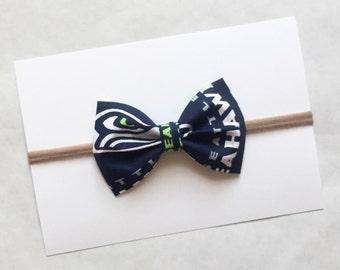 Seattle Seahawks baby headband | nylon headband