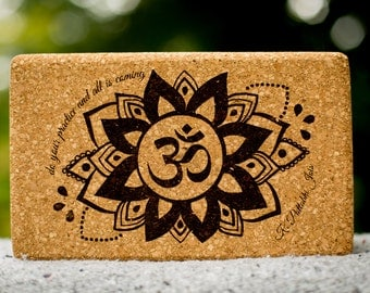 OM Cork Yoga Blocks (1 Pair)