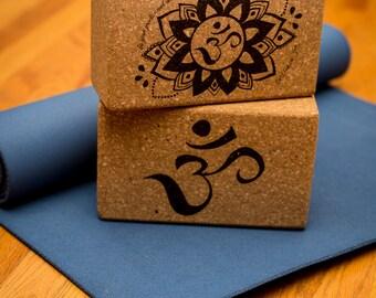 Beautifully Designed Om Yoga Blocks