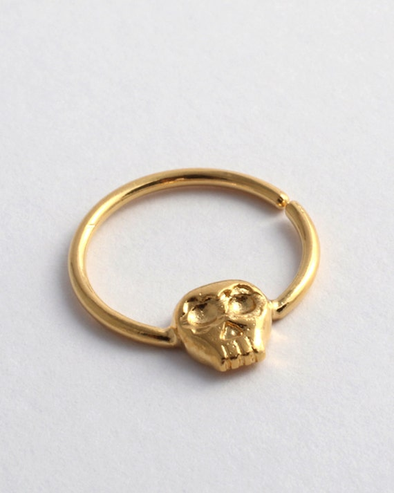 septum ring septum ring gold skull septum by yajewelryshop