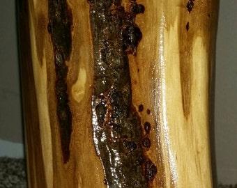 Handmade log lamp