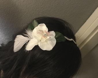 Played headband with flowers