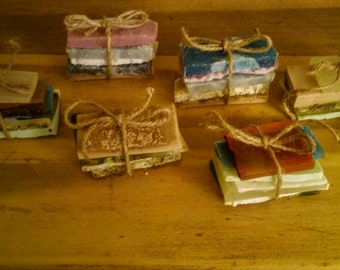 Assorted hand crafted all natural soap sample bar bundles