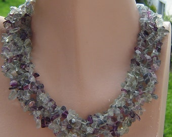 Real Flourite - pastel - soft lilac necklace