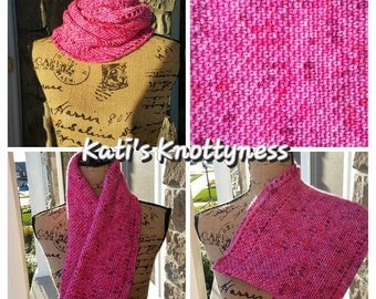 Crochet 'Calm Cowl' with hand dyed yarn by KnitMona**** RTS****