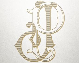 Premade Logo Monogram - JP PJ - Premade Logo - Digital
