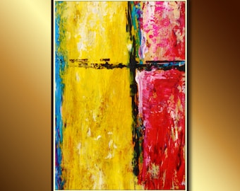 Abstract Art: Large Original Painting, Abstract Acrylic Painting, Original acrylic abstract painting ready to hang, Large Abstract Painting