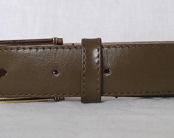 Khaki belt Pierre Cardin Vintage