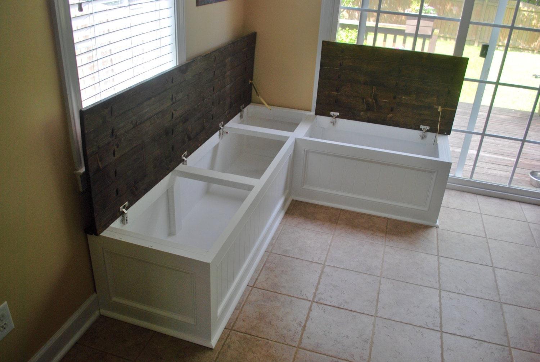 Corner bench, kitchen seating, L shaped bench