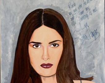 Salma Hayek - original autographed portrait