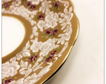"Royal Albert Bone China Small Tea Cup Platter ""True Love"""