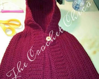 Handmade little red riding hood cape- size 2t- CLEARANCE
