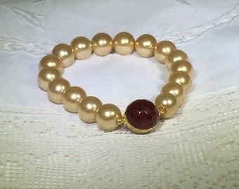 Champagne Color Pearl Bracelet