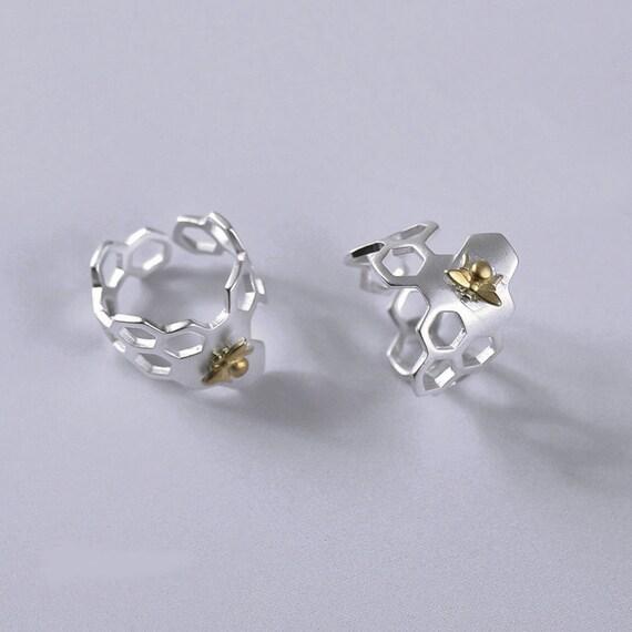 honeybee ring sterling silver bee by silveruniquejewelry