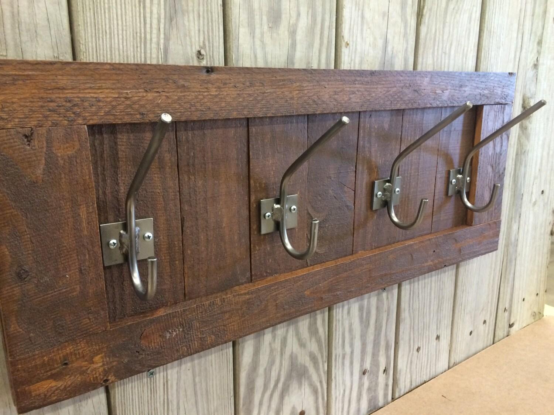 Wooden Rustic Wall Coat Rack Rustic Coat Rack Reclaimed Wood