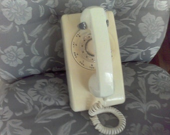 Vintage Dial Phone,old telephone, ,Wall rotary dial phone,Stromberg-Carlson