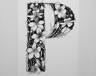 Floral Lettet P