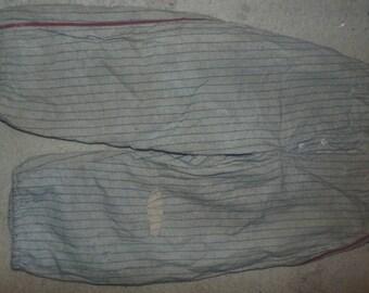 vintage baseball uniform pants wool pinstripe 1930s