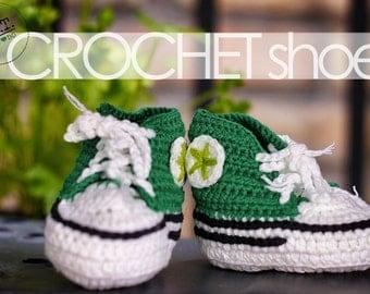 Handmade Crochet Baby Converse Shoes