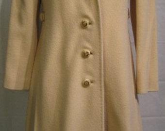 Vintage 1970s Denise Originals Light Camel Cashmere Coat Size XS-S