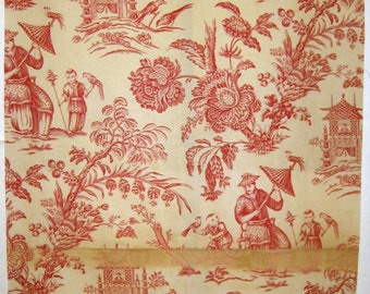 Beautiful  20th C. French Chinoise Cotton Print Fabric (9049)