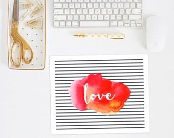 Love sign | watercolor print | Love printable | watercolor art print | watercolor signs | digital watercolor print | instant download art