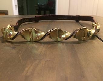 Vintage Judith Leiber Gold/Burgundy Adjustable Belt