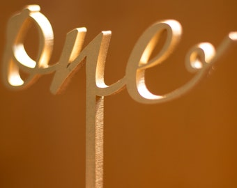 Table number, wedding table numbers, with the stick, non-free standing