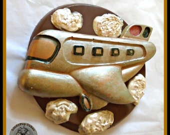 Chocolate Airplane Giant Lollipop/Bon Voyage/Travel/Holiday/Vacation/Air Travel/Boys Chocolate/Pilot Gift/Plane Spotter/Airport/Male Gift